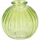 Glass bottle Petite, D8.5cm, H8.5cm, green
